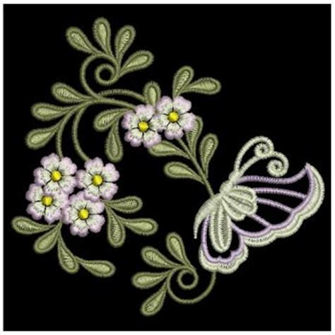 Bv4765ls Embroidery Flower And Butterfly embroidery designs butterfly flower decorations sm