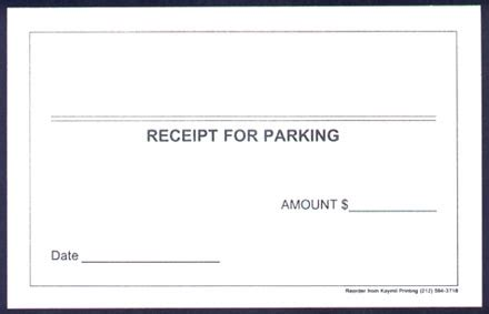 parking lot receipt template parking receipt