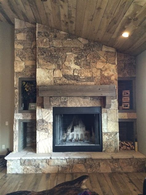 cobblestone fireplace black moss stone fireplaces hearth and home distributors