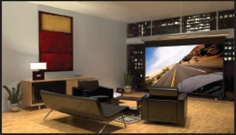 projector or tv for media room go big sound vision
