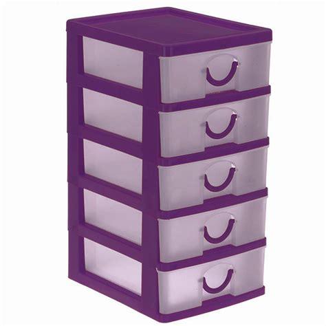 bloc coffret tour boite de rangement 5 tiroirs plastique