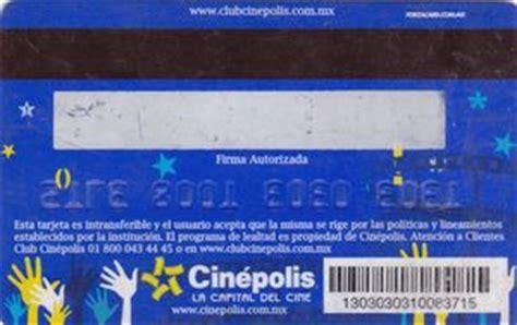 Cinepolis Gift Cards - gift card cinepolis cinepolis mexico club cin 233 polis col mex cpl 040