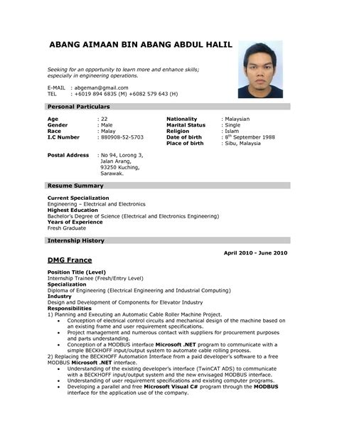 Create Resume Format by How To Create A Resume Format Resume Template Easy