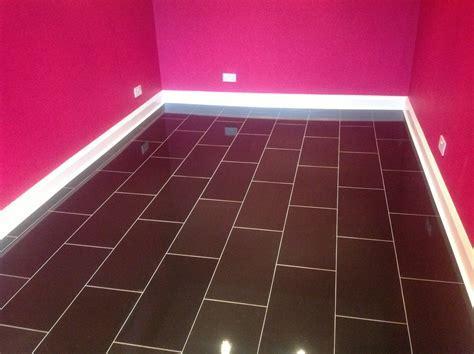 Black Tile Effect Laminate Flooring For Kitchens