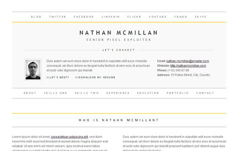 30 best resume cv html templates for personal business