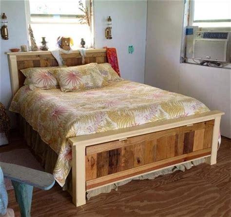 diy size pallet bed frame 16 wonderful diy pallet headboard ideas diy to make