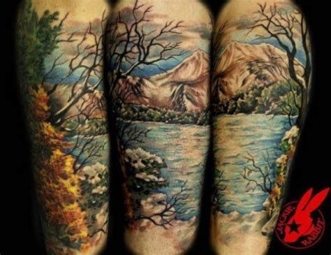 tattoo design nature landscape tattoos tattoofanblog