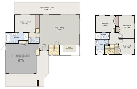 house plans zen cube 4 bedroom house plans new zealand ltd
