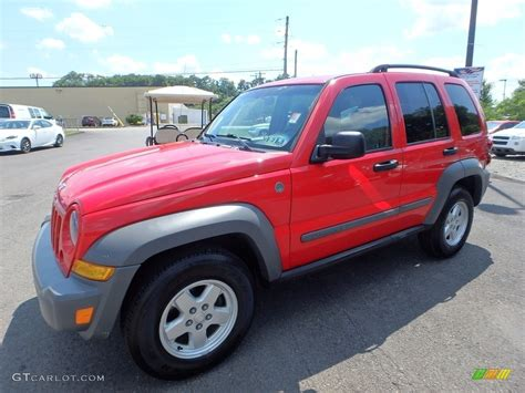 red jeep liberty 2005 2005 flame red jeep liberty sport 4x4 121993478 photo 10