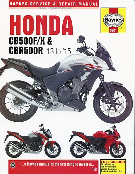 moto baja books honda cb500f x cbr500r repair manual 2013 2015 haynes
