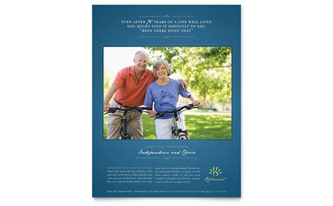 Senior Living Community Flyer Template Word Publisher Living Flyer Template
