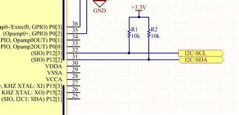 pull up resistor wattage i2c protocol mbedded