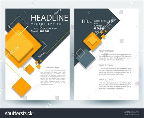 desing template abstract vector modern flyers brochure annual stock vector