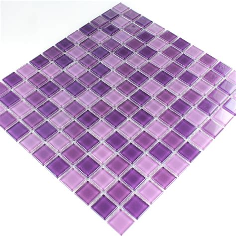 fliese lila clear glass mosaic tiles purple mix www mosafil co uk