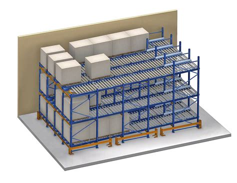 Fifo Storage Can Rack by Live Pallet Racking Fifo Pallet Live Storage Mecalux