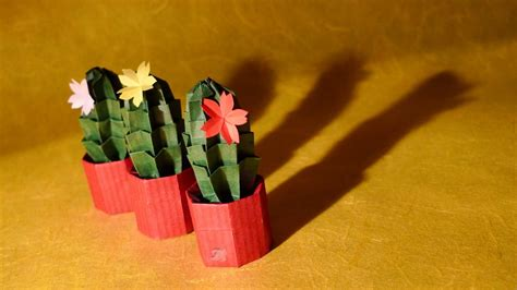 Origami Cactus - 42 beautiful origami flowers that look almost like the