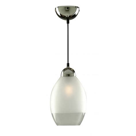 Frosted Glass Pendant Light Shade Searchlight Electric 7704 Chrome With Clear Frosted Glass Shade Pendant Searchlight Electric