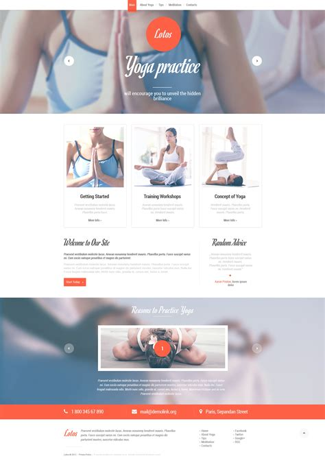 responsive website templates for yoga yoga responsive website template 46828