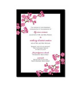 cherry blossom wedding invitations cherry blossom wedding invitation or cherry blossom bridal
