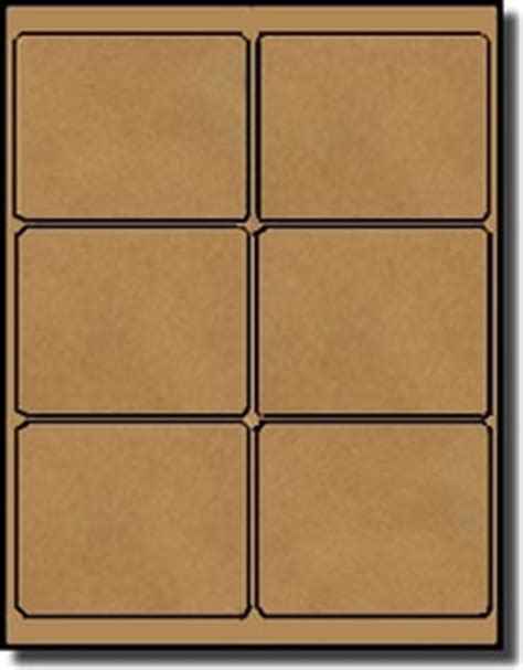 avery 1 x 4 label template 600 brown kraft laser inkjet labels 4 x 3 1 3 6 labels
