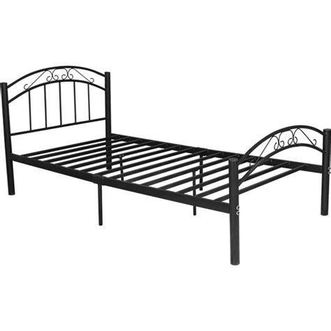 Iron King Size Bed Frame Cleveland King Single Size Iron Bed Frame In Black Buy King Single Bed Frame