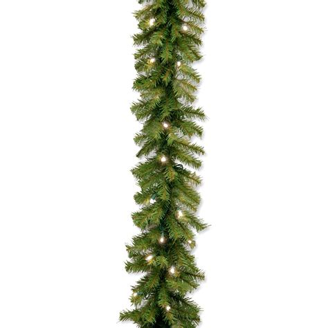 9 ft norwood fir pre lit led garland christmas garland