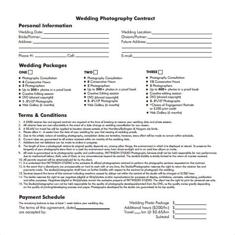 photography contract template free demonow info