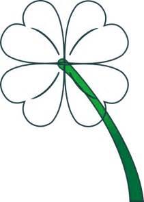 Four Leaf Clover Outline Clip by Four Leaf Clover Drawing Clipart Best
