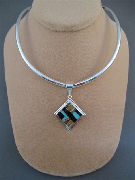 sterling silver collar necklace by artie yellowhorse two