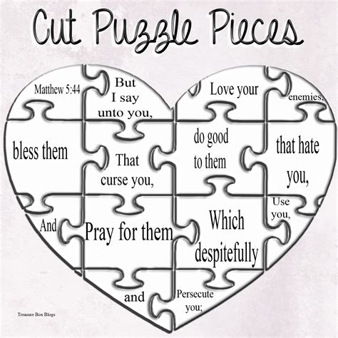free printable christian jigsaw puzzles children s gems in my treasure box matthew 5 44 make