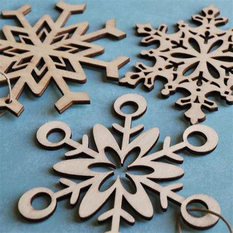 laser decorations laser cut wood snowflake ornaments ornaments