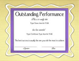outstanding certificate template the gallery for gt outstanding performance certificate