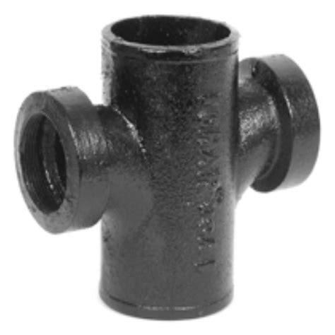 Pipa Cast Iron Pipe 2 In Cast Iron Dwv No Hub Tapped Sanitary