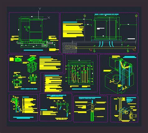 electrical substation details dwg detail for autocad