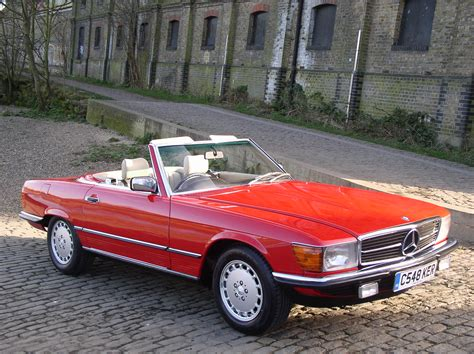 classic red mercedes classic chrome mercedes benz 300 sl 1986 c red