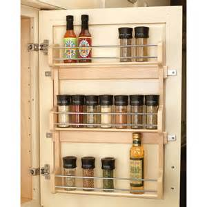 Kitchen Cabinet Spice Organizer by Shop Rev A Shelf Wood In Cabinet Spice Rack At Lowes Com