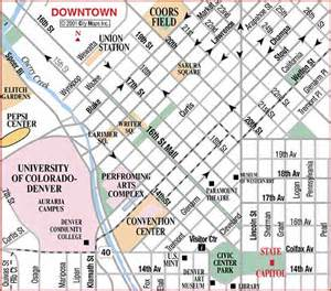 map of downtown denver colorado downtown denver map pictures to pin on pinsdaddy