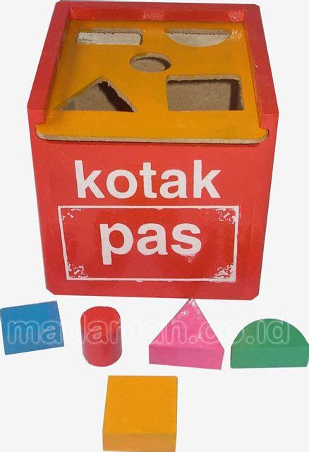 Mainan Edukasi Kotak Pas alat peraga edukasi kotak pas