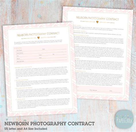 birth photography contract template newborn birth announcement card an001 paper lark designs