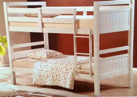 Bunk Bed Single Bunk Bed King Single Solid White Solid Bunk New Goingbunks Biz
