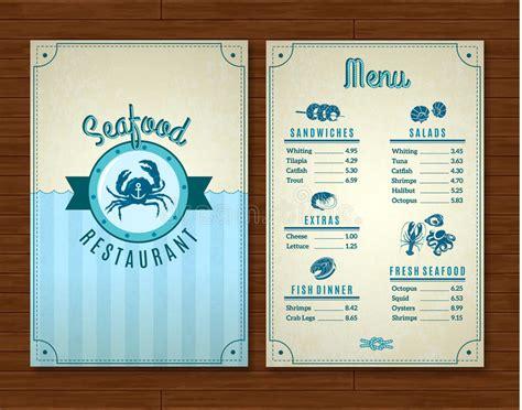 Seafood Menu Template Stock Vector Illustration Of Octopus 59500490 Seafood Menu Template