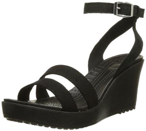 Studio Nine Crocs crocs s leigh wedge sandal black 9 m usapparelique