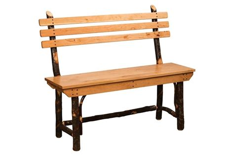 rustic bench with back amish made hickory bench dutchcrafters hickory benches