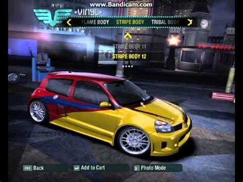 renault clio v6 nfs carbon need for speed carbon renault clio tuning youtube