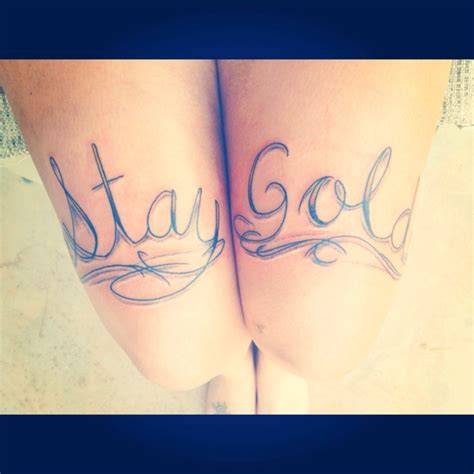 the outsiders tattoo 17 best ideas about stay gold on stay