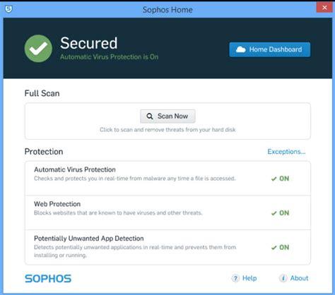 sophos home simple free antivirus for windows and mac