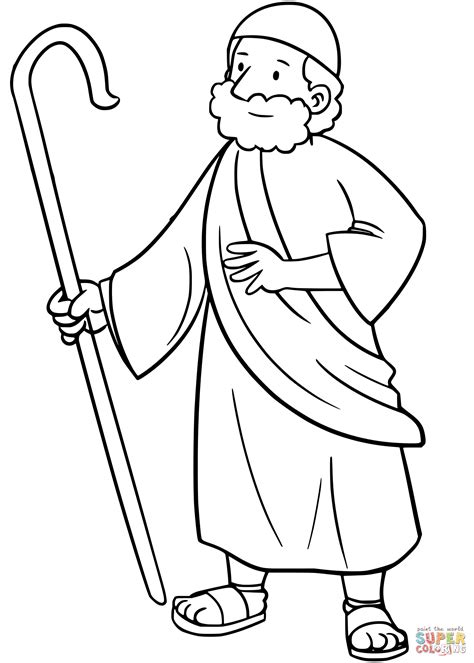 Galerry moses coloring page pdf