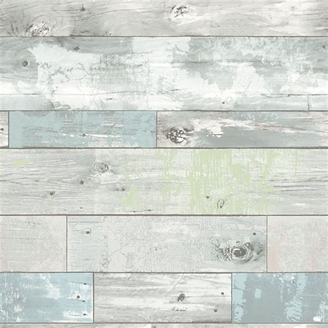 vinyl peel and stick wallpaper shop nuwallpaper 30 75 sq ft blue vinyl wood peel and
