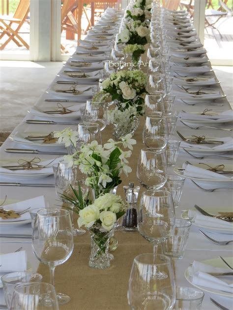 wedding reception, banquet table vases, white and green