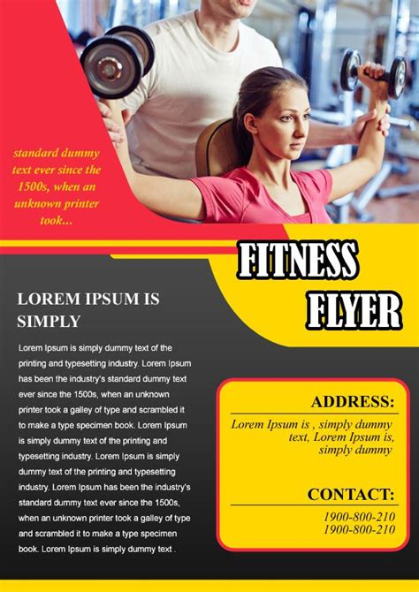 stron biz fitness boot c flyer template